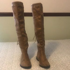 Charlotte Russe Knee High Taupe Boots Size 6